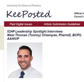 ICHP Leadership Spotlight Interviews Meet Thomas (Tommy) Chiampas, PharmD, BCPS, AAHIVP