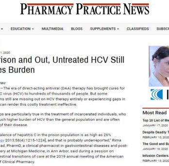 """Dr. Sarah Michienzi was interviewed for the article """"In Prison and Out, Untreated HCV Still Poses Burden,"""