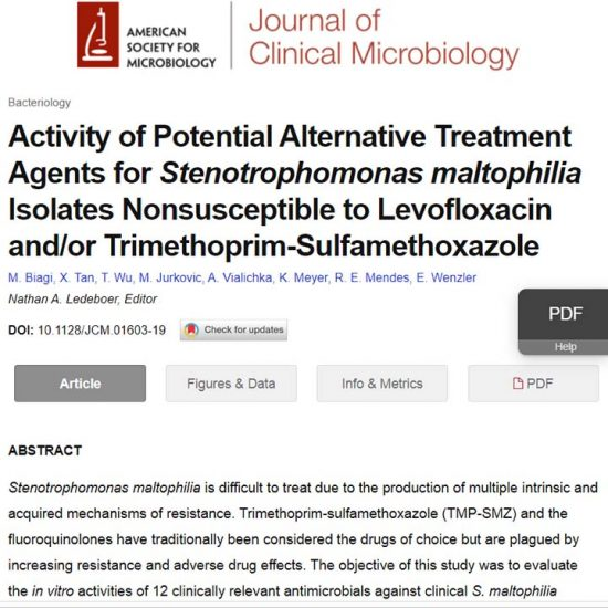 Activity of Potential Alternative Treatment Agents for Stenotrophomonas maltophilia Isolates Nonsusceptible to Levofloxacin and/or Trimethoprim-Sulfamethoxazole