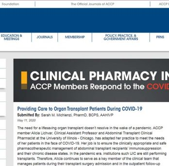 Providing Care to Organ Transplant Patients During COVID-19