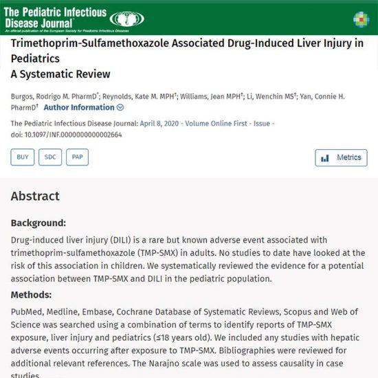 Trimethoprim-Sulfamethoxazole Associated Drug-Induced Liver Injury in Pediatrics