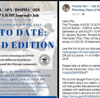 Dr. Zackery Bulman, along with P2 students Richard Shin and Aleksandra Kiernoziak participated in the Up To Date: COVID Edition