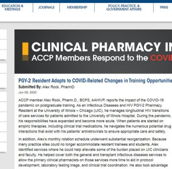 PGY-2 Resident Adapts to COVID-Related Changes in Training Opportunities