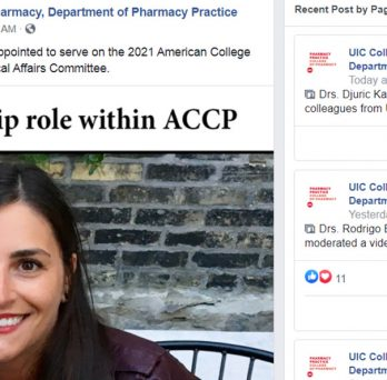 Dr. Sarah Michienzi was appointed to serve on the 2021 American College of Clinical Pharmacy Clinical Affairs Committee