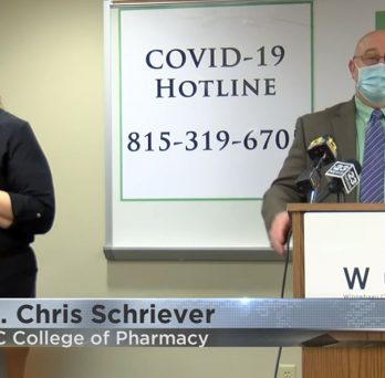 Dr. Chris Schriever participated in the Winnebago County Health Department (WCHD) press conference on COVID-19 vaccination planning