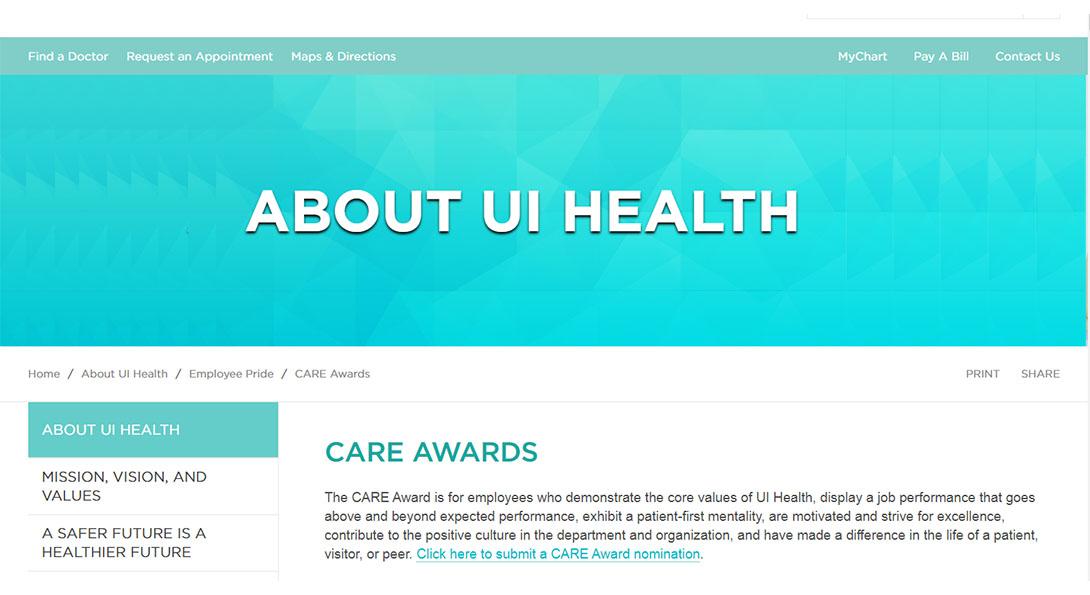 Dr. Renata Smith Receives CARE Award